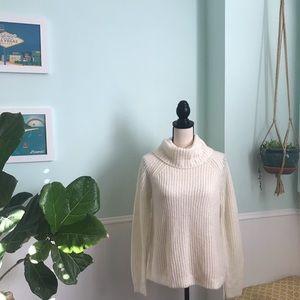 Gap oversized cowl neck wool blend sweater